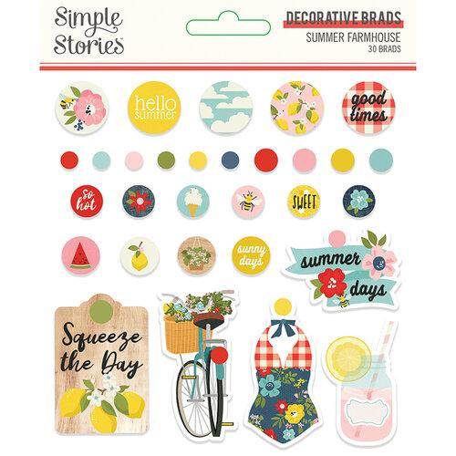 Simple Stories - Summer Farmhouse Collection - Decorative Brads