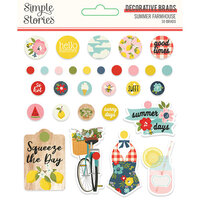 Simple Stories - Summer Farmhouse Collection - Decorative Brads