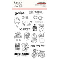 Simple Stories - Summer Farmhouse Collection - Clear Photopolymer Stamps