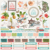 Simple Stories - Simple Vintage Coastal Collection - 12 x 12 Cardstock Stickers - Combo