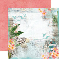 Simple Stories - Simple Vintage Coastal Collection - 12 x 12 Double Sided Paper - Beach Vibes