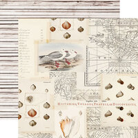 Simple Stories - Simple Vintage Coastal Collection - 12 x 12 Double Sided Paper - Sandy Toes