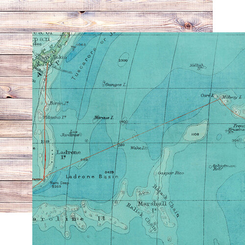 Simple Stories - Simple Vintage Coastal Collection - 12 x 12 Double Sided Paper - On Island Time