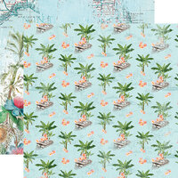 Simple Stories - Simple Vintage Coastal Collection - 12 x 12 Double Sided Paper - Tropical Life