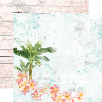 Simple Stories - Simple Vintage Coastal Collection - 12 x 12 Double Sided Paper - Paradise Found