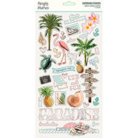 Simple Stories - Simple Vintage Coastal Collection - 6 x 12 Chipboard Stickers