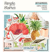 Simple Stories - Simple Vintage Coastal Collection - Ephemera - Bits and Pieces