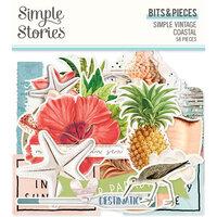 Simple Stories - Simple Vintage Coastal Collection - Ephemera - Bits and Pieces