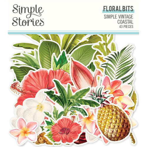 Simple Stories - Simple Vintage Coastal Collection - Ephemera - Floral Bits and Pieces