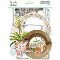 Simple Stories - Simple Vintage Coastal Collection - Layered Chipboard Frames