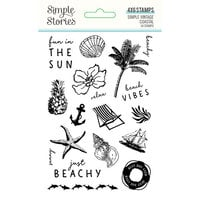 Simple Stories - Simple Vintage Coastal Collection - Clear Photopolymer Stamps