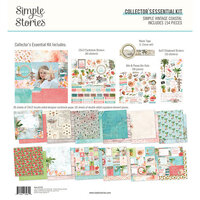 Simple Stories - Simple Vintage Coastal Collection - 12 x 12 Collector's Essential Kit