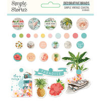 Simple Stories - Simple Vintage Coastal Collection - Decorative Brads