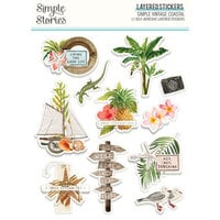 Simple Stories - Simple Vintage Coastal Collection - Layered Stickers