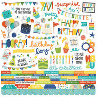 Simple Stories - Birthday Blast Collection - 12 x 12 Cardstock Stickers - Combo