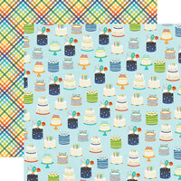 Simple Stories - Birthday Blast Collection - 12 x 12 Double Sided Paper - Wish Big
