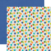 Simple Stories - Birthday Blast Collection - 12 x 12 Double Sided Paper - Birthday Boy
