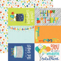 Simple Stories - Birthday Blast Collection - 12 x 12 Double Sided Paper - 4 x 6 Elements