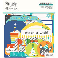 Simple Stories - Birthday Blast Collection - Ephemera - Journal Bits and Pieces