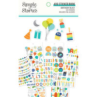 Simple Stories - Birthday Blast Collection - 4 x 6 Sticker Book with Foil Accents