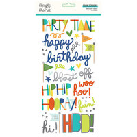 Simple Stories - Birthday Blast Collection - Foam Stickers