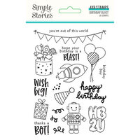 Simple Stories - Birthday Blast Collection - Clear Photopolymer Stamps