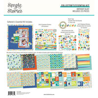 Simple Stories - Birthday Blast Collection - 12 x 12 Collector's Essential Kit with Foil Accents