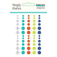 Simple Stories - Birthday Blast Collection - Self-Adhesive Enamel Dots