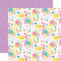 Simple Stories - Magical Birthday Collection - 12 x 12 Double Sided Paper - Birthday Girl
