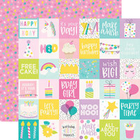 Simple Stories - Magical Birthday Collection - 12 x 12 Double Sided Paper - 2 x 2 Elements