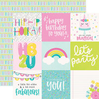 Simple Stories - Magical Birthday Collection - 12 x 12 Double Sided Paper - 4 x 4 Elements