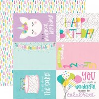 Simple Stories - Magical Birthday Collection - 12 x 12 Double Sided Paper - 4 x 6 Elements