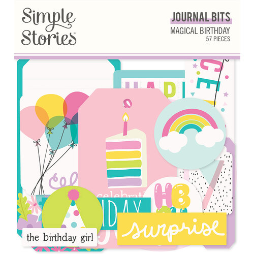 Simple Stories - Magical Birthday Collection - Ephemera - Journal Bits
