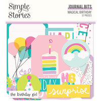Simple Stories - Magical Birthday Collection - Ephemera - Journal Bits and Pieces