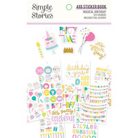 Simple Stories - Magical Birthday Collection - 4x6 Sticker Book with Foil Accents