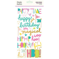 Simple Stories - Magical Birthday Collection - Foam Stickers