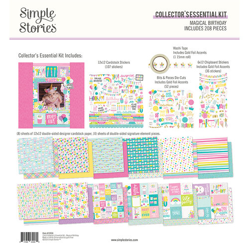 Simple Stories - Magical Birthday Collection - 12 x 12 Collector