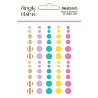 Simple Stories - Magical Birthday Collection - Enamel Dots