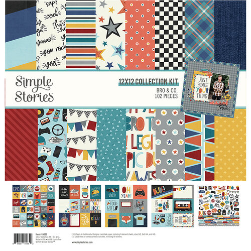 Simple Stories - Bro & Co Collection - 12 x 12 Collection Kit