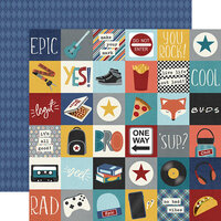Simple Stories - Bro & Co Collection - 12 x 12 Double Sided Paper - 2 x 2 Elements