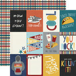 Simple Stories - Bro & Co Collection - 12 x 12 Double Sided Paper - 3 x 4 Elements