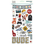 Simple Stories - Bro & Co Collection - 6 x 12 Chipboard Stickers