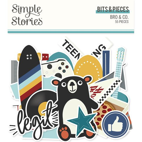 Simple Stories - Bro & Co Collection - Ephemera - Bits and Pieces