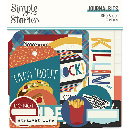 Simple Stories - Bro & Co Collection - Ephemera - Journal Bits and Pieces