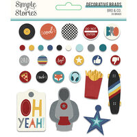 Simple Stories - Bro & Co Collection - Decorative Brads