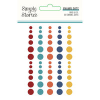 Simple Stories - Bro & Co Collection - Self-Adhesive Enamel Dots