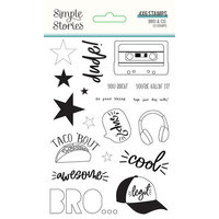 Simple Stories - Bro & Co Collection - Clear Photopolymer Stamps