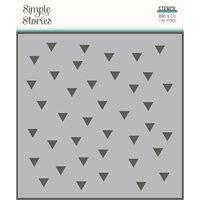 Simple Stories - Bro & Co Collection - 6 x 6 Stencil - Retro Triangles