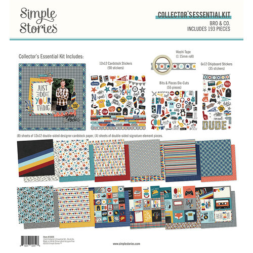 Simple Stories - Bro & Co Collection - 12 x 12 Collector's Essential Kit