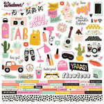 Simple Stories - Kate and Ash Collection - 12 x 12 Cardstock Stickers - Combo